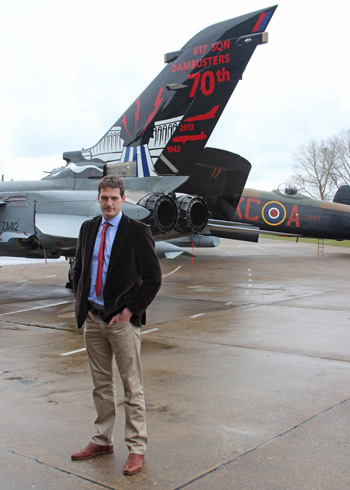 TV presenter Dan Snow at No. 617 Squadron the Dambusters 70th anniversary