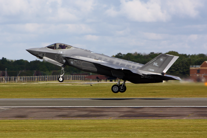 F-35A aircraft arrive at RAF Lakenheath