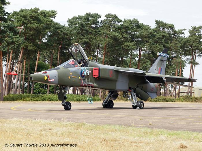 Jaguar GR-1A XX741/EJ unveiling at Bentwaters Cold War Museum