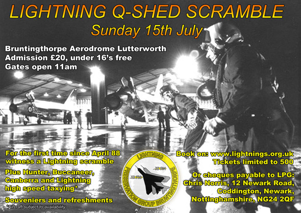 Lightning Q-shed Scramble - Sunday 15th July 2012 at Bruntingthorpe Aerodrome, Lutterworth
