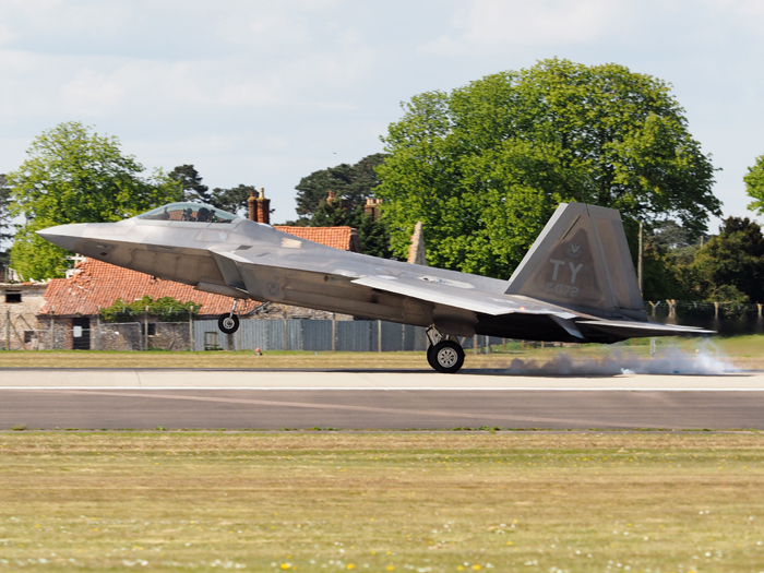 The F22 Raptor at RAF Lakenheath - 3rd May 2016.