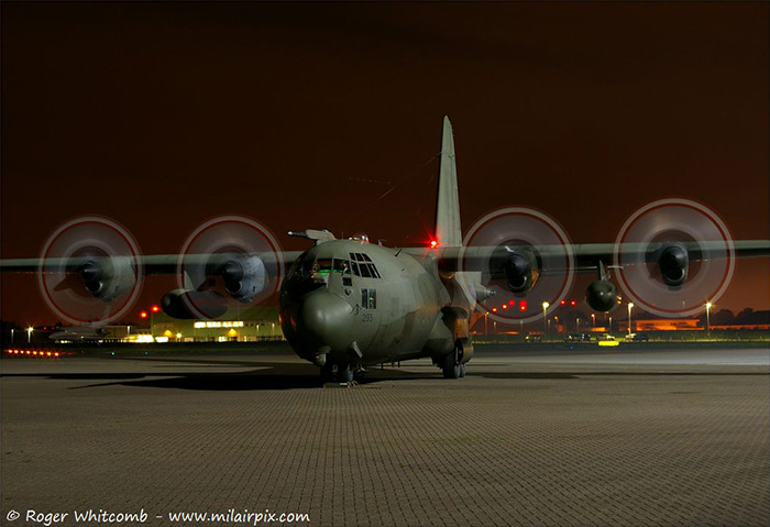 Hercules C130K XV295 at the RAF Northolt Night Shoot XV 17/10/13