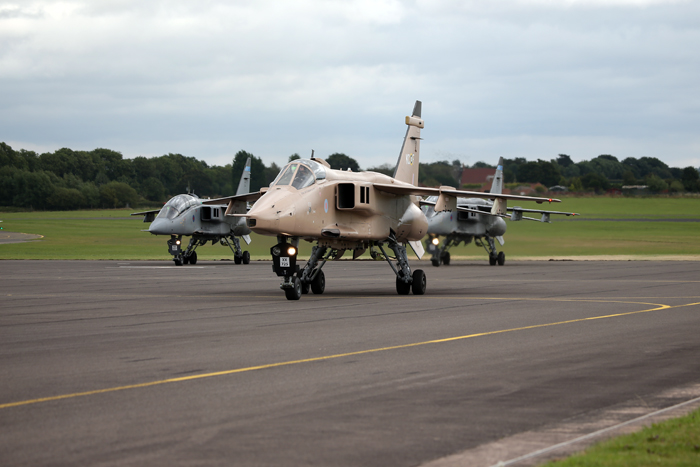 RAF Jaguars make their last live runs - 31st July 2016.