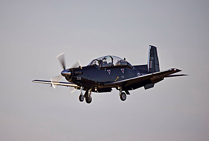 Texan T6 ZM328 gets airborn at RAF Valley