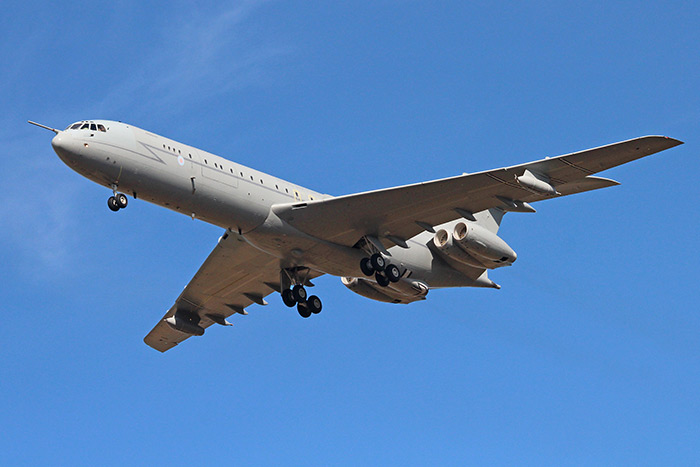 The last operational flight of VC10 ZA147 at RAF Marham