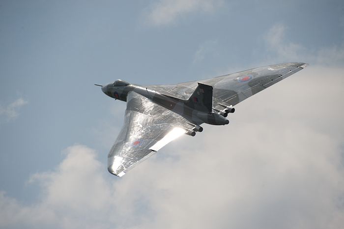 Vulcan XH558 made its 1st flight of 2014