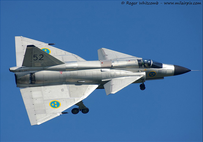 Swedish Historic Flights Saab Viggen at Waddington Air Show 2013