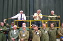 David Walton cutting the ribbon at the 50th anniversary of the Lightning into service and the unveiling of the Lightning Q shed