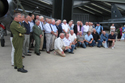 Ex-Lightning pilots at the 50th anniversary of the Lightning into service and the unveiling of the Lightning Q shed