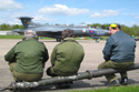 Buccaneer and ground crew at the Bruntingthorpe Taxi Event 2009
