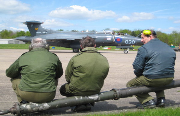 Buccaneer and ground crew