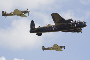 The Battle of Britain Memorial Flight at Duxford Flying Legends Air Show 2010