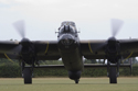 Avro Lancaster Mk VII NX611 Just Jane taxiing at the East Kirkby RAFBF Air Show 2010
