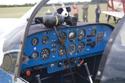 Piel CP-301B Emeraude G-AZGY (originally F-BRAA) cockpit at the East Kirkby RAFBF Air Show 2010