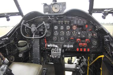 Avro Lancaster Just Jane cockpit