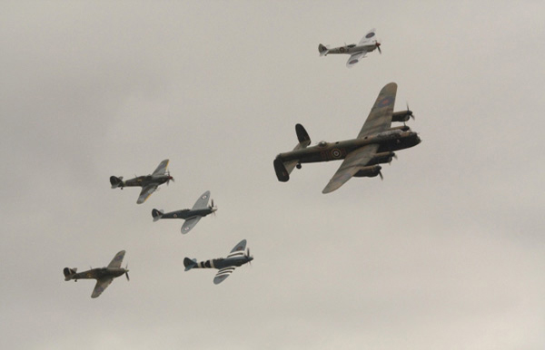 The Battle of Britain Memorial Flight. Photo by Ross Cannon