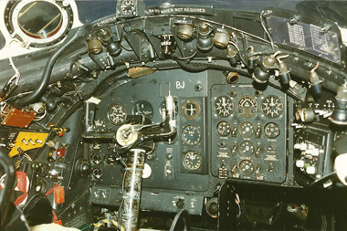 Canberra WE113 cockpit