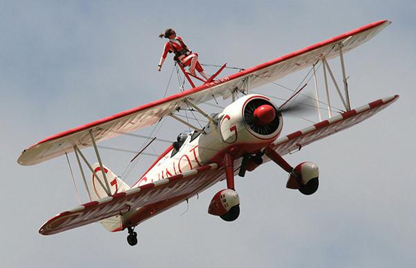 Team Guinot Wingwalker at Duxford Spring Air Show 2008. Photo by Bruce Martin