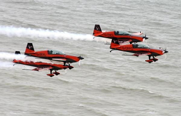 The Blades Aerobatic Display Team. Photo by Bob Franklin