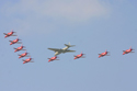 The Red Arrows and Canberra PR9 Disbandment of 39 Squadron at RAF Marham 2006