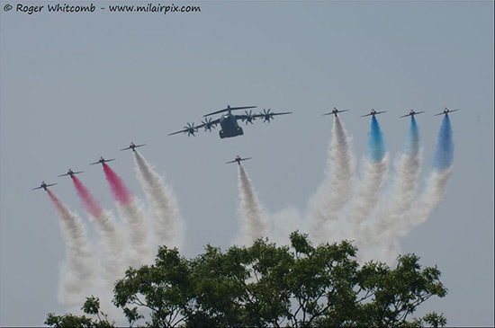 The Red Arrows with Airbus A400M Atlas