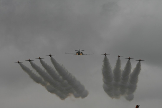 The Red Arrows and Sentinel