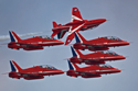 The Red Arrows at Bournemouth Air Show 2009