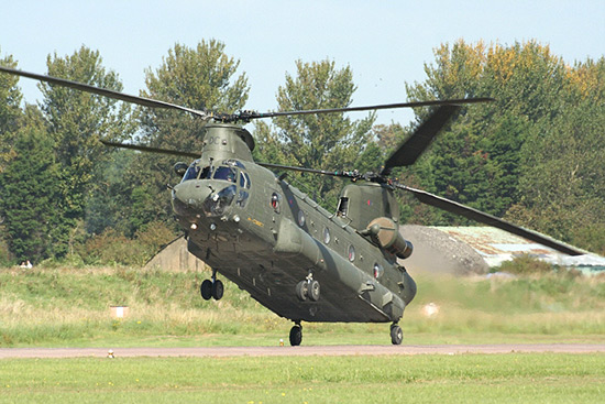 Boeing-Vertol CH-47 Chinook at Waddington Air Show 2008