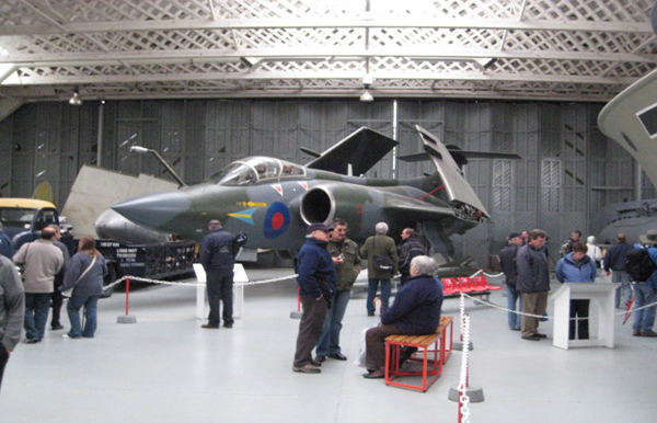 Hawker-Siddeley Buccaneer S2B XV865/865 at Duxford Hangar 3 - The Maritime Collection