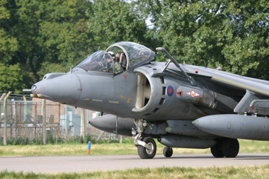 Harrier Jump Jet ZD437 at RAF Coltishall 2005 last Enthusiasts Day visiting aircraft