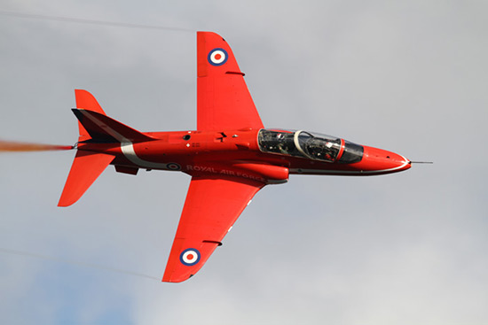 Red Arrows Hawk at Jersey International Air Display 2010