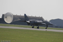 SEPECAT Jaguar deploying brake chute at RAF Coningsby