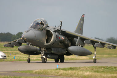 Harrier Jump Jet ZD437 at RAF Coltishall Last Enthusiasts Day