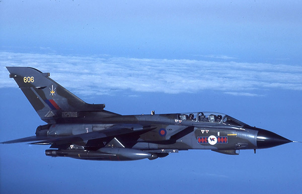 Tornado GR1 ZA606 45(R) Sqn TWCU, 19th October 1989
