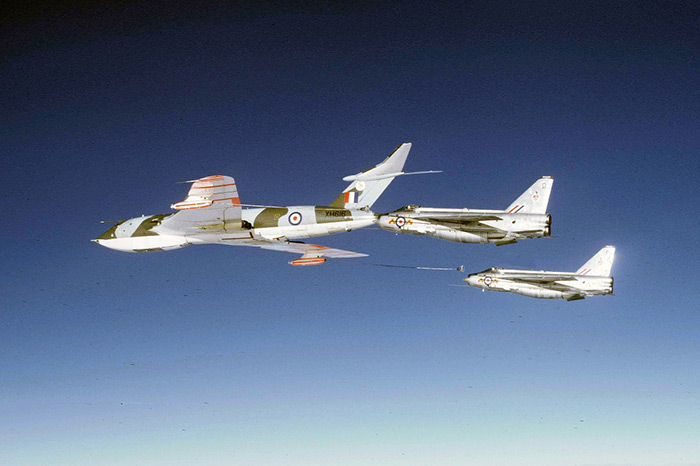 Victor K1A XH616 RAF 57 Squadron and two 92 Squadron F2A Lightnings over Germany, January 1972