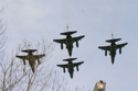 SEPECAT Jaguar 4-ship formation at the Closing day at RAF Coltishall 2006