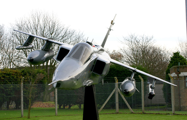 Gate guardian SEPECAT Jaguar XW563 at RAF Coltishall