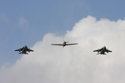 Hawker Hurricane Mk IV G-HURY/KZ321 and SEPECAT Jaguars at RAF Coltishall Last Enthusiasts Day