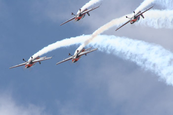 The Blades Aerobatic Display Team at RAF Cottesmore Families Day 2009