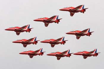 The Red Arrows at RAF Marham Families Day 2011