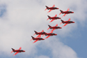 The Red Arrows Display Team at RAF Marham Families Day 2009