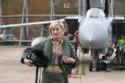 Flight Lieutenant Vicki Neighbour at the RAF Tornados return from the Libya operations event