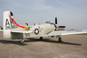 Douglas A-1 Skyraider 7722 G-RADR AK-402 126922 at The Gathering of Warbirds & Veterans - Arrivals and Static