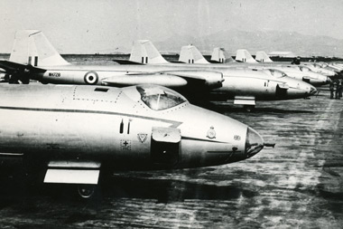English Electric Canberras of 27 Squadron at Nicosia in 1956