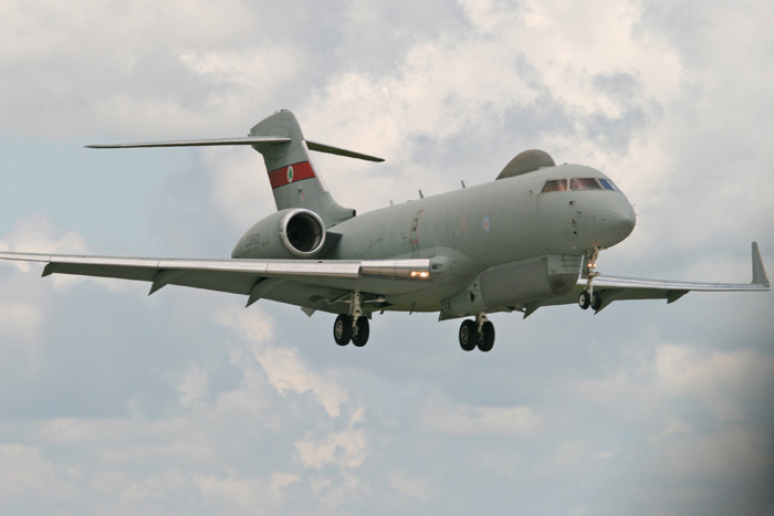 Bombardier BD-700-1A10 Sentinel R1 ZJ693 of No. 5 Squadron