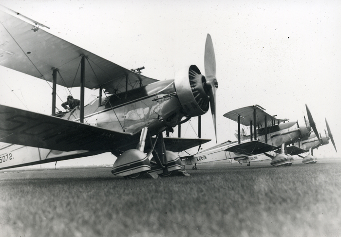 Line up of Westland Wallace of 503 Squadron on Empire Air Day on 23rd May 1936