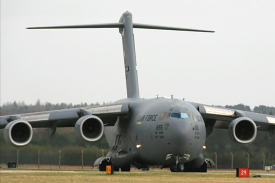 McDonnell Douglas (Boeing) C-17A Globemaster III 06-6155 of the 21st Airlift Squadron at RAF Mildenhall