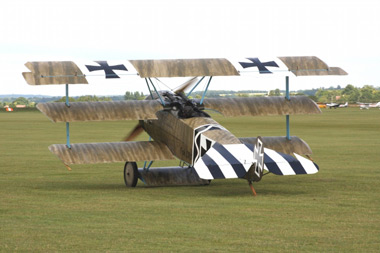 Fokker Dr.I Triplane (replica) PFA 238-14043 G-CDXR 403/17 at Duxford Flying Legends 2009