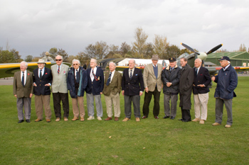 Veterans at the Sir Sydney Camm Hurricane event at North Weald