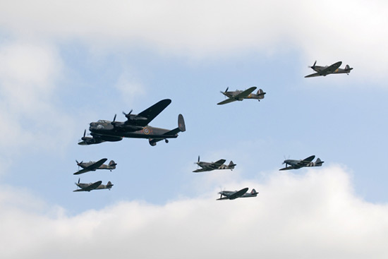 Avro Lancaster Mk BI PA474 The phantom of the Ruhr and the Battle of Britain Memorial Flight